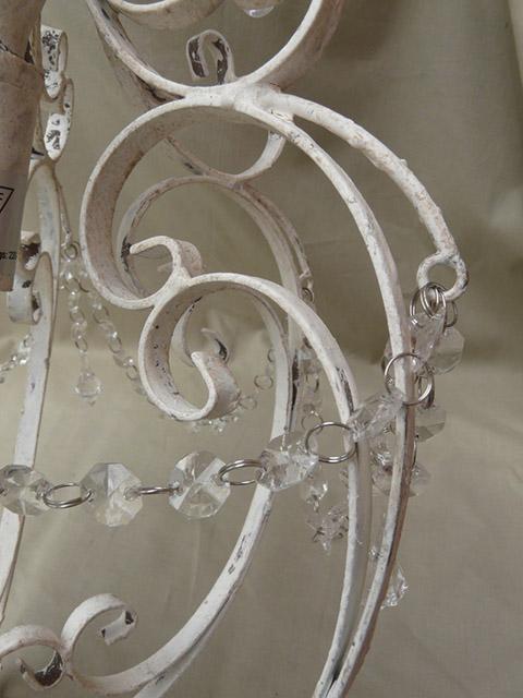 h ngelampe lampe metall chic antique creme weiss vintage deckenlampe 30cm shabby ebay. Black Bedroom Furniture Sets. Home Design Ideas