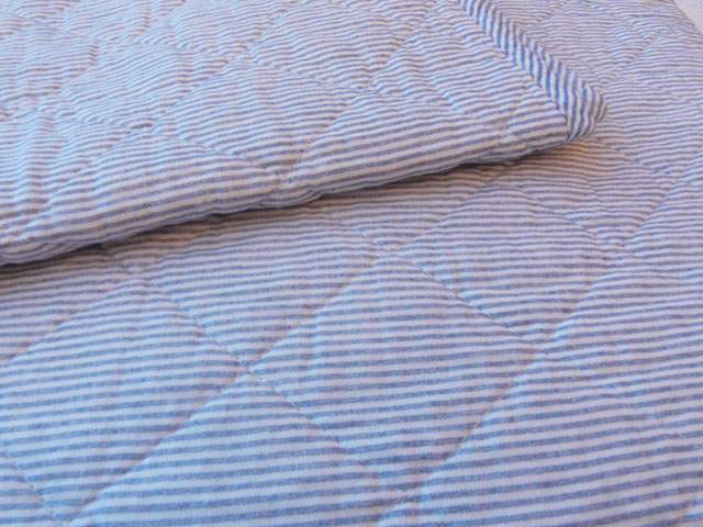 ib laursen plaid decke sofadecke quilt blau wei gestreift 130 x 180cm streifen ebay. Black Bedroom Furniture Sets. Home Design Ideas
